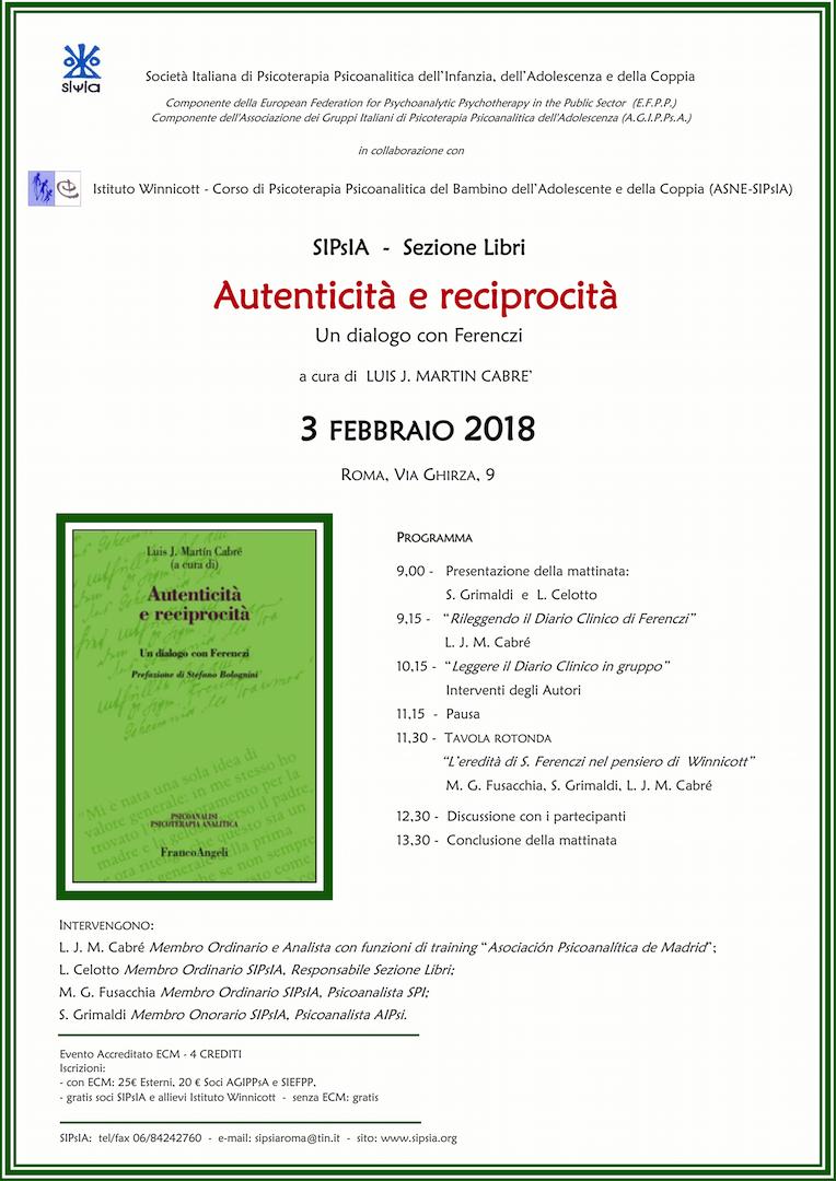 2018-02-03 SIPsIA Libri - Autenticità e reciprocità di Cabrè LOCANDINA 3