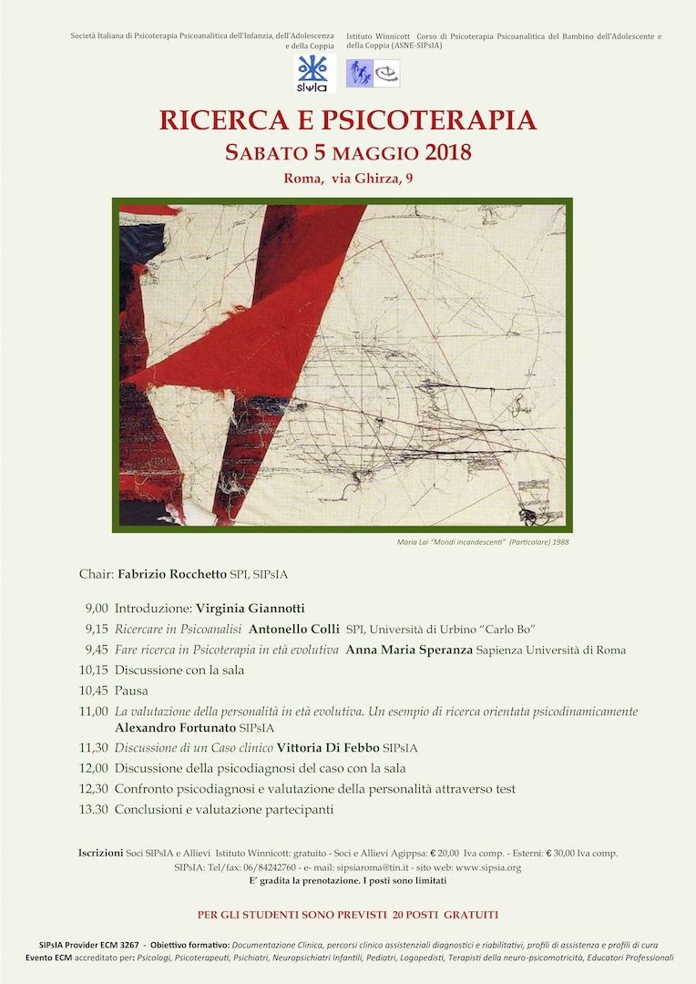 2018-05-05 Seminari SIPsIA - Ricerca e psicoterapia